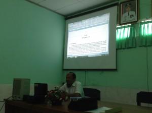 Bapak Basuki mempresentasi Program Radiologi