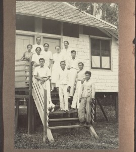 "Reference: BMA QS-30.023.0182 Title: ""The staff of the hospital in Kuala Kapuas 1932."" Creator: unknown Date: 1932 ""The staff of the hospital in Kuala Kapuas 1932.,"" BMArchives, accessed January 5, 2016, http://www.bmarchives.org/items/show/82505."
