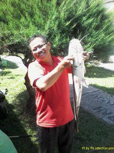 Pemenang pertama lomba mancing di lingkungan RSUD Kapuas